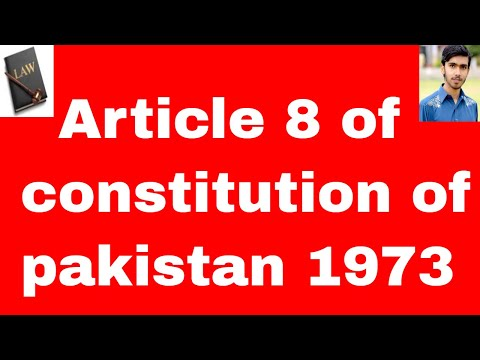 fundamental rights Article 8 of constitution of pakistan 1973 in urdu and hindi