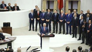 Başbakan Yıldırım, anayasa değişikliği teklifinin kabulunun ardından teşekkür konuşması yaptı