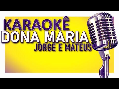 🎤 KARAOKÊ - Dona Maria - Thiago Brava ft. Jorge