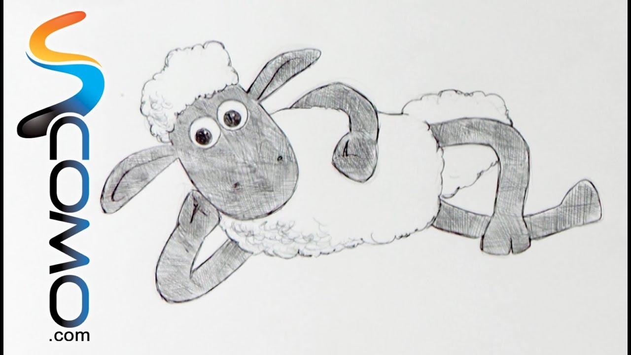 Dibujar a la La oveja Shaun - YouTube