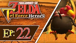 Tri Force Heroes - Part 22 | The Dunes - Stone Corridors! [3-Player 100% Walkthrough]