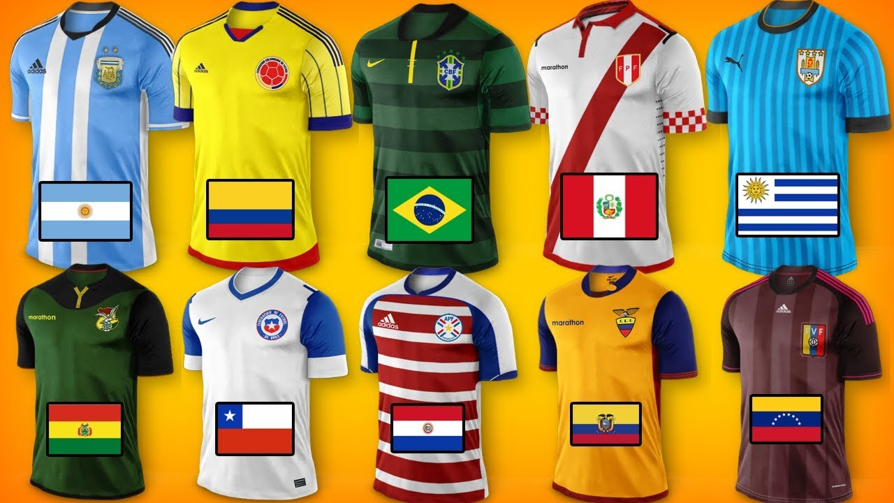 607cb161c Nuevas camisetas COPA AMERICA 2019 - YouTube