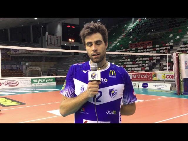 Nicola Candeli felice per il 3-0 a Reggio Emilia