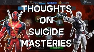 Thoughts On Suicide Masteries - Marvel Contest Of Champions