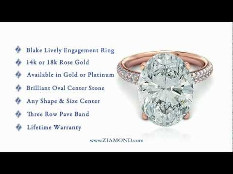 Blake Lively Engagement Ring Replica 14K Rose Gold By