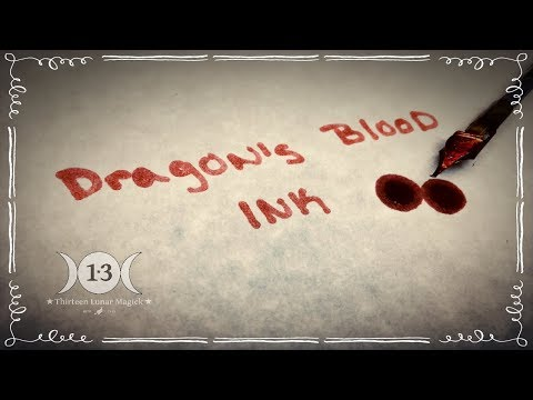 How To Make Dragon's Blood Ink