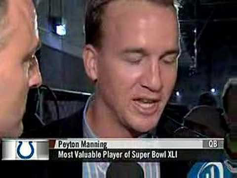 Peyton Manning and Archie talk about super bowl