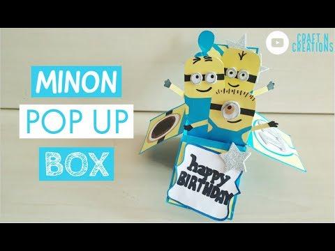 3D Minion Birthday Pop Up Box