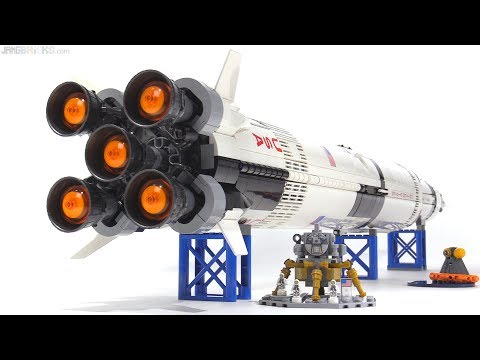 LEGO Ideas NASA Apollo Saturn V set review 21309