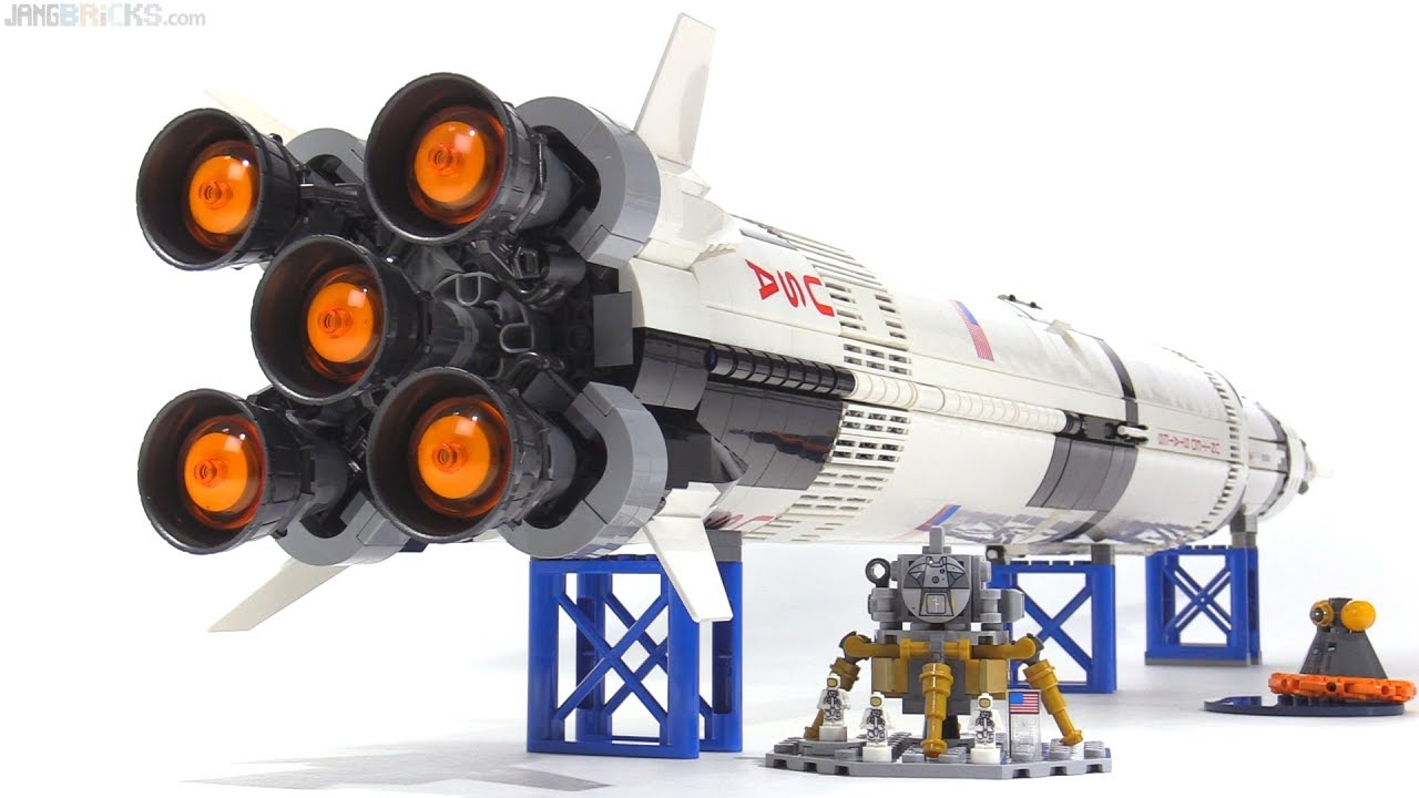Lego Ideas Nasa Apollo Saturn V Set Review 21309 Youtube