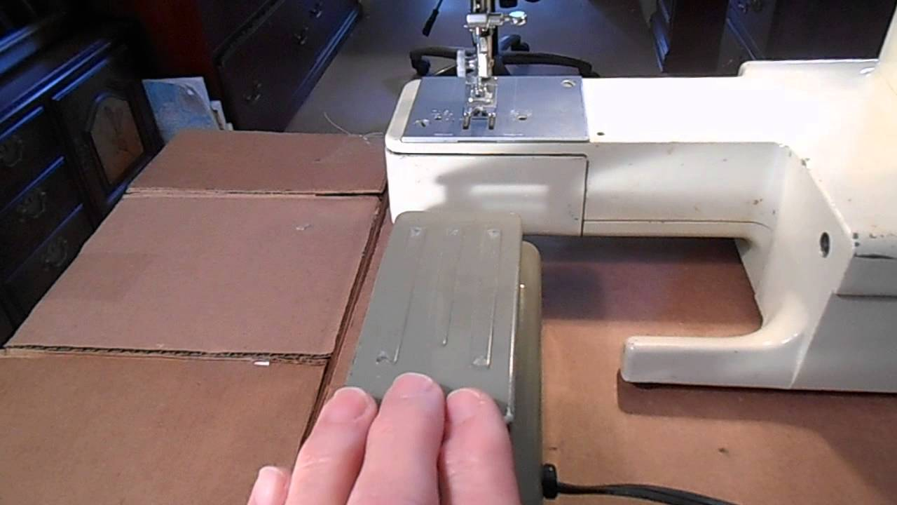 sears kenmore sewing machine foot pedal model 6812 demo [ 1280 x 720 Pixel ]