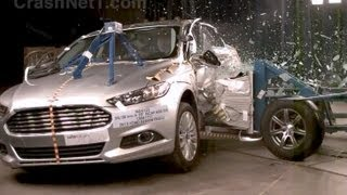 2013 Ford Fusion Energi | Side Crash Test by NHTSA | CrashNet1