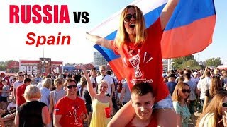Spain v Russia 3-4 Penalty - FANS REACTION (LIVE) España v Russia (fifa WORLD CUP 2018)