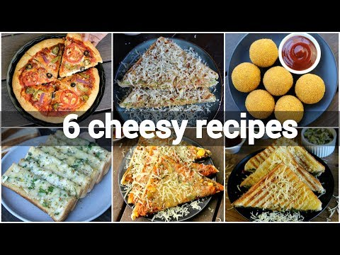 6 easy cheesy snack recipes collection | simple recipes with cheese | mozzarella cheese indian