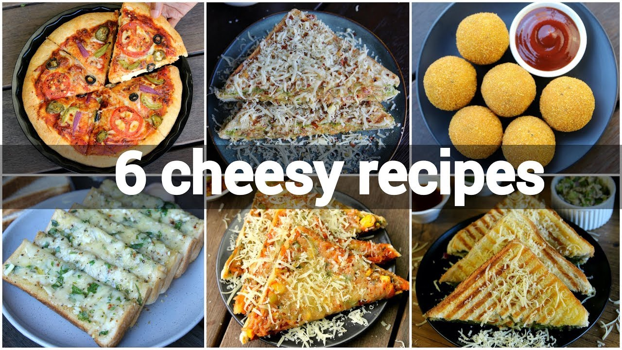6 Easy Cheesy Snack Recipes Collection Simple Recipes With Cheese Mozzarella Cheese Indian Youtube