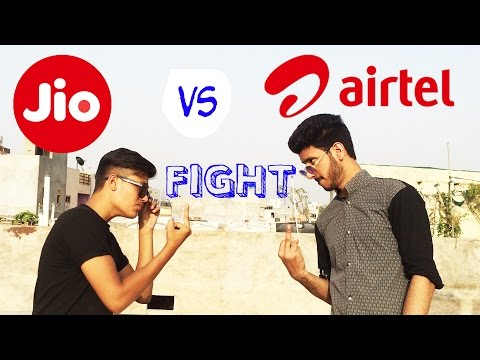 JIO vs AIRTEL | Funny Fighting JIO vs AIRTEL by Naved Solanki