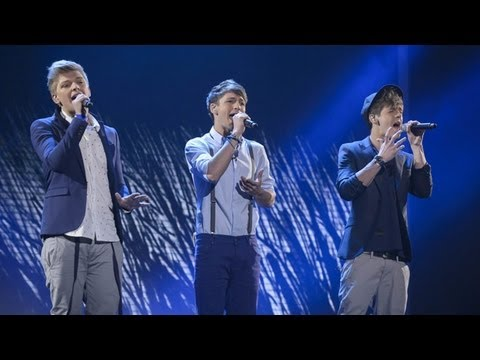 District3 sings All 4 One's I Swear - Live Week 2 - The X Factor UK 2012