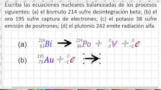 Problemas de física nuclear, ecuaciones nucleares 1