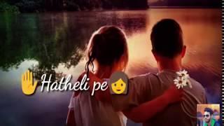 New romantic love ringtone Hindi status video, heart touchinglove status 2019, Chupana bhi nahi aata