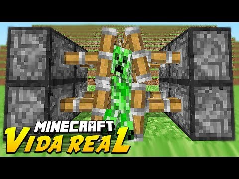 Minecraft - VIDA REAL : #3 ARMADILHA DE CREEPER