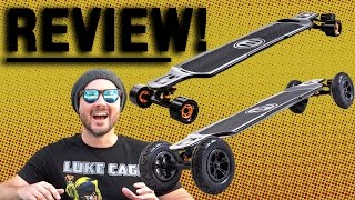 Evolve Carbon GT 2-in-1 Electric Skateboard Unboxing + First Ride + Review = I ALMOST DIED!!!