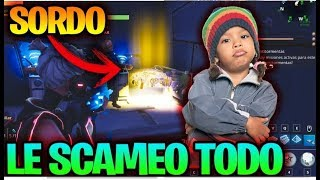 SCAMING SCAMMER SORDO/NO OYE ME!! -FORTNITE SAVE THE WORLD