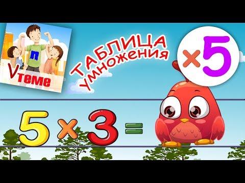Видеоурок таблица умножения на 5