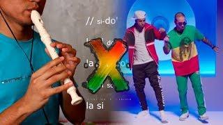 X (EQUIS) - Nicky Jam x J. Balvin - Tutorial Flauta dulce