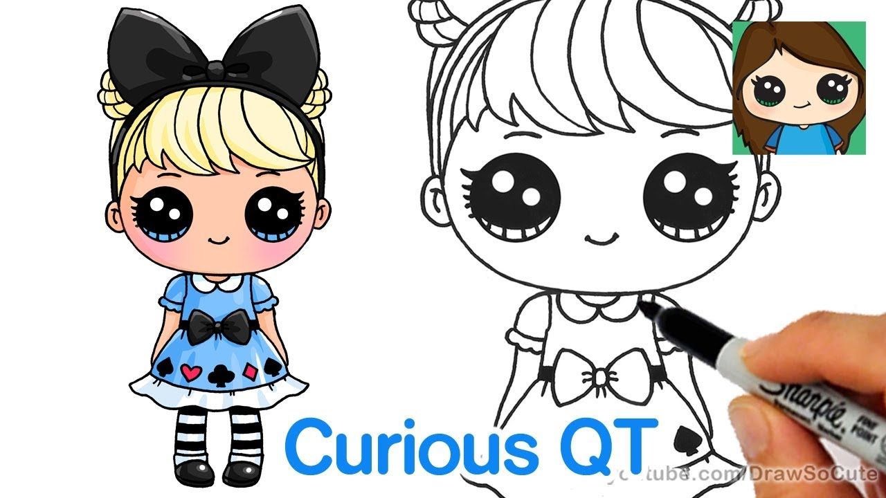 How To Draw Curious Qt Lol Surprise Doll Youtube