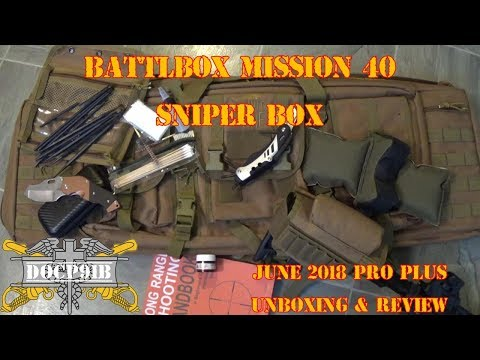 Battlbox (Battle Box) Mission 40 Sniper Box - June 2018 - Pro-Plus Unboxing and Review