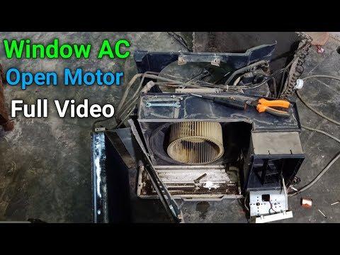 Window Air Conditioner Fan/Blower Motor Open Full Tutorial In Urdu/Hindi