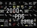 2000+ png name