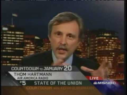 Countdown: Thom Hartmann on the GOP Busting Unions - YouTube