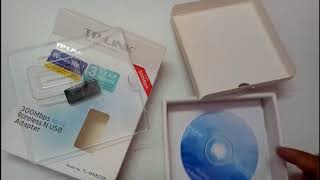 TP LINK 300Mbps mini wireless N USB adapter ( TL-WN823N ) unboxing and review