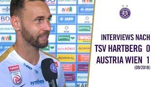 Interview-Highlights nach dem Sieg in Hartberg