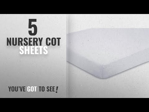 Top 10 Nursery Cot Sheets [2018]: 2x Cot Bed 100% Cotton Jersey Fitted Sheets 140 x 70 cm White
