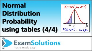 Normal distribution (4) : ExamSolutions