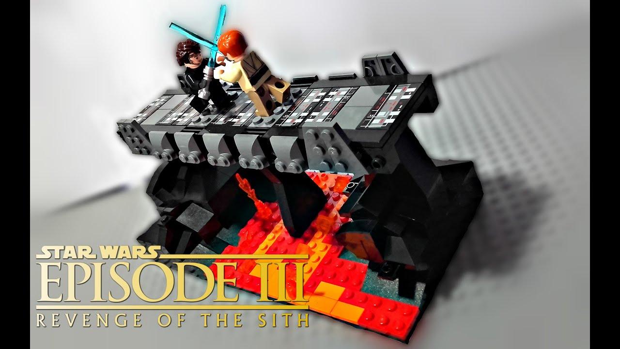 Lego Star Wars Battle Of Mustafar Moc Review Youtube