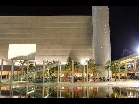 Habima Theatre At Night, Tel Aviv