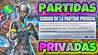 PARTIDAS PRIVADAS FORTNITE EL MINIJUEGO LO ELIGES TU!!!
