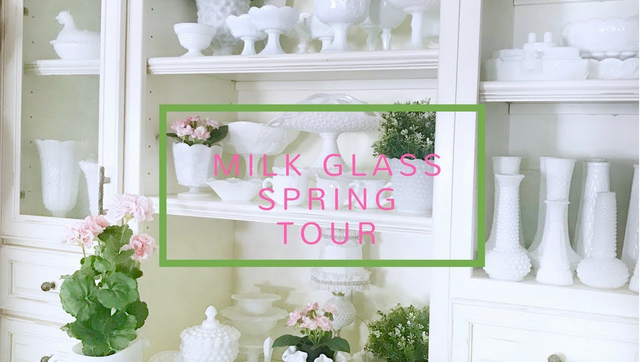My Milk Glass Collection - Decorated for Spring