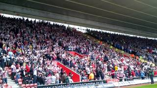 Southampton FC fans singing against Portsmouth FC - Saints v Portsmouth.