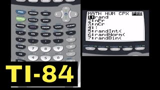 Permutations, Combinations, Factorials with the TI-84 Calculator