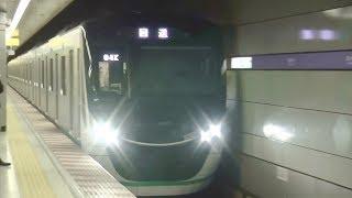 東京メトロ半蔵門線錦糸町駅を通過する東急2020系の回送電車