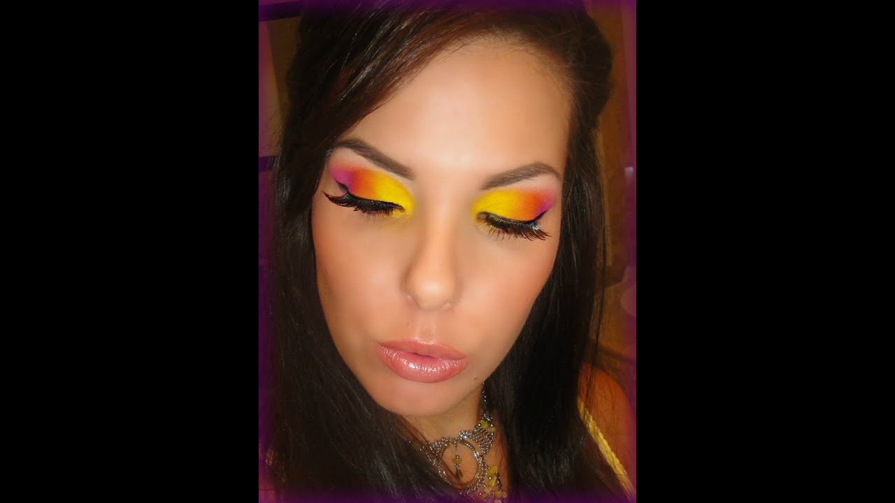 Yellow Pink And Orange Eye Shadow Sugarpill Youtube