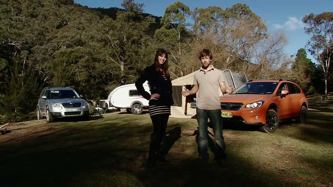 Skoda Yeti Vs Subaru Xv Tow Test Australian Caravan Rv Youtube