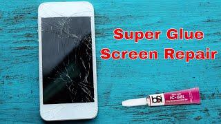Repair A Phone Screen With Super Glue📱