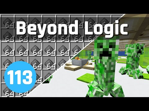 Insane Creeper Farm! - Beyond Logic #113 (Let's Play) | Minecraft 1.15