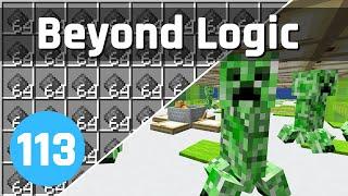 Insane Creeper Farm! - Beyond Logic #113 (Let's Play) | Minecraft 1.15