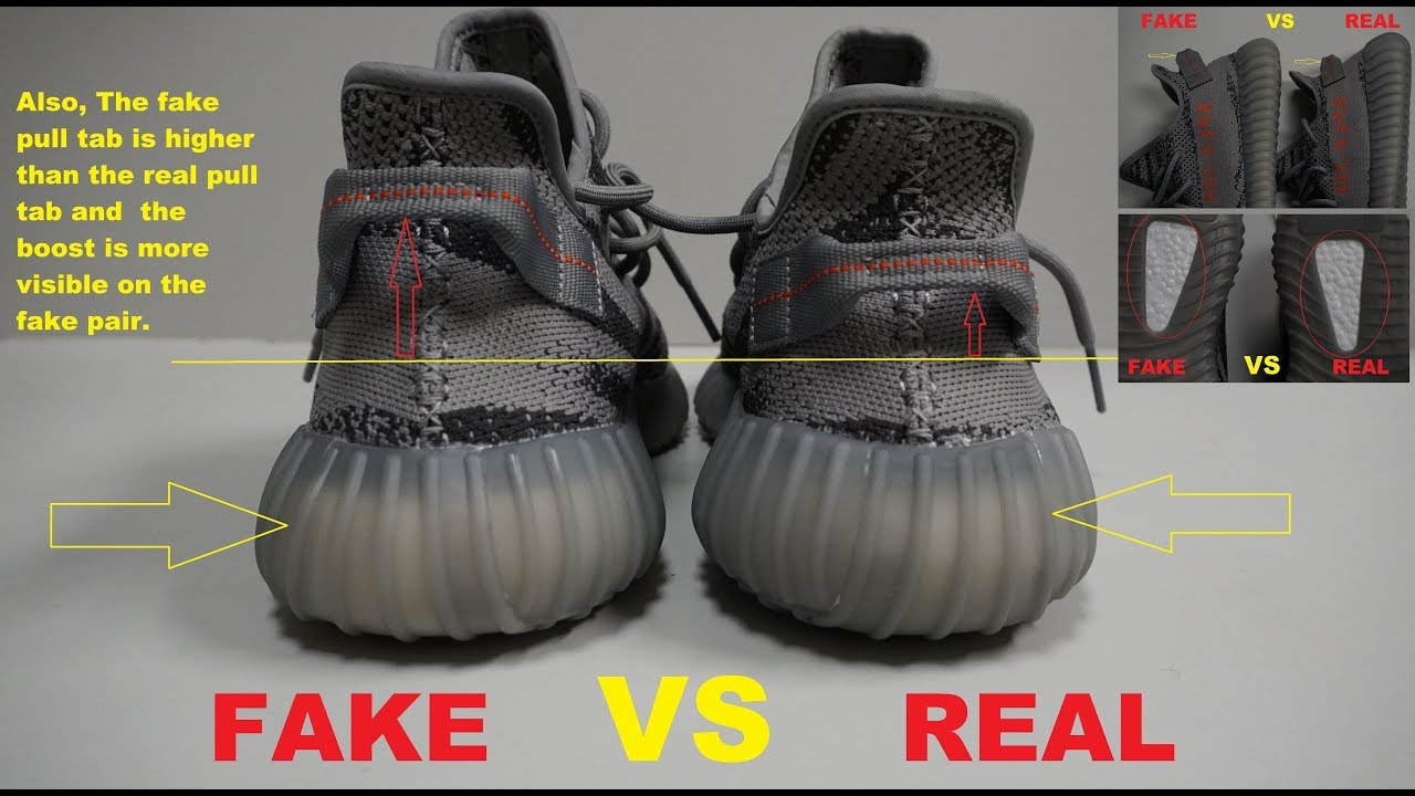 check out size 7 genuine shoes YEEZY BOOST 350 V2 BELUGA 2.0 Real Vs. Fake (LEGIT CHECK)